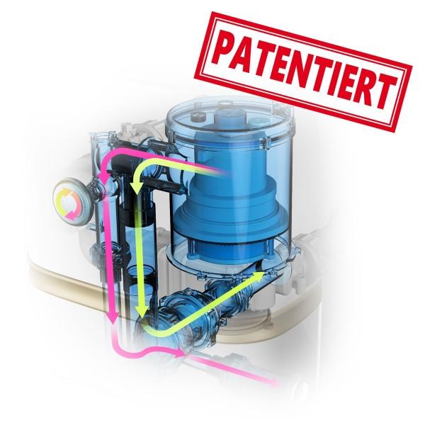hocheffizientes, regelbares PTC-Heizungssystem bis 42°C Wassertemperatur