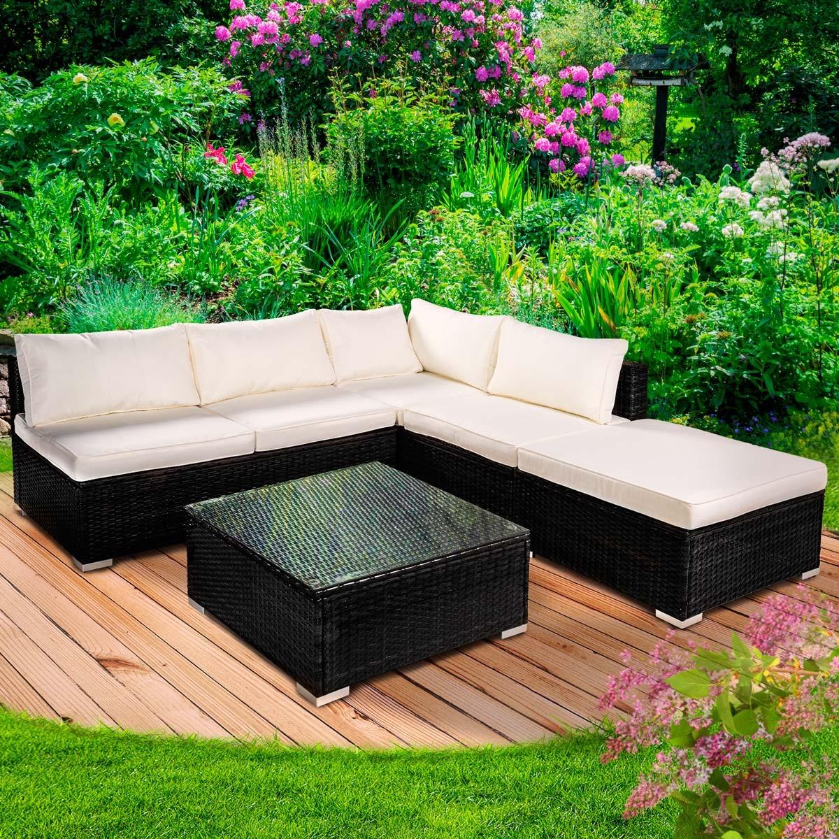 polyrattan gartenm belset oase schwarz. Black Bedroom Furniture Sets. Home Design Ideas