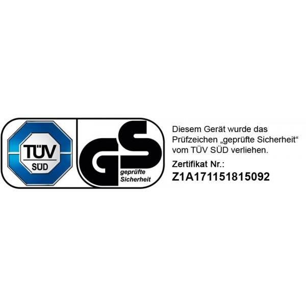 """Unser Whirlpool wurde vom TÜV Süd getestet und mit dem Prüfsiegel """"Geprüfte Sicherheit"""" versehen (Zertifikatsnr. Z1A 17 11 51815 092 )"""