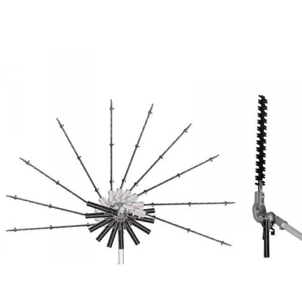 Heckenscheren-Aufsatz mit in 11 Positionen verstellbarer Klinge 90-270 Grad