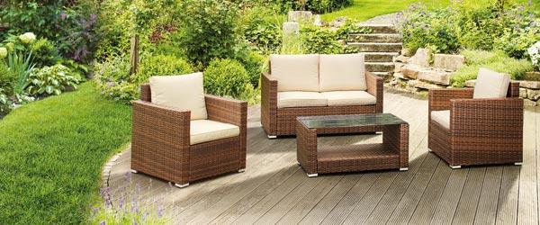 Voll im Trend: Gartenmöbel aus Polyrattan